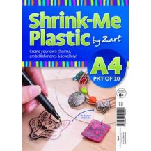 SHRINK-ME PLASTIC CLEAR PACK 10