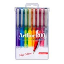 ARTLINE 200 BRIGHTS ASSORTED 8'S