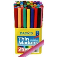 SCHOOL COLOURS THIN MARKERS 60'S