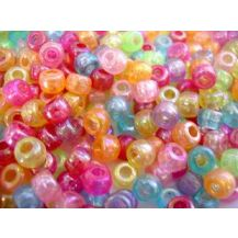 BEADS PASTEL - 250 GRAMS ASSORTED