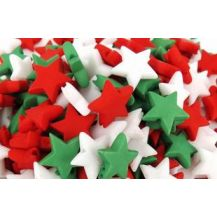 BEADS - PLASTIC XMAS STAR 200G