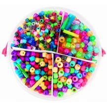 BASIC - PLASTIC BEADS 655G ASSORTED