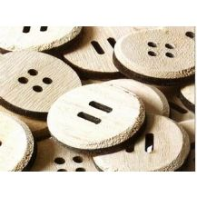 BUTTON - WOODEN GIANT PACK OF 25