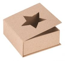 PAPIER MACHE CUT-OUT STAR BOX each