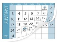 CALENDAR TABS PACK OF 10