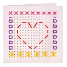 STITCHING CARD 16CM PACK OF 10