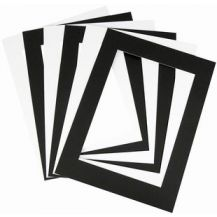 PRE-CUT MOUNTS BLACK-WHITE 10,S