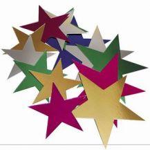 CARDBOARD FOILBOARD STARS SMALL 50'S