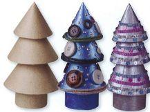 PAPIER MACHE CHRISTMAS TREES 5'S