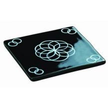 CERAMIC TILE BLACK 10CM - EACH