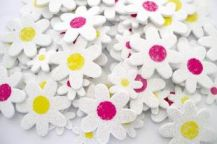 FOAM ADHESIVE SHAPES DAISY GLITTER PACK OF 104