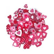 FOAM CRAFT ADHESIVE SHAPES - HEARTS PACK 120