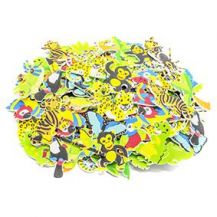 FOAM ADHESIVE SHAPES -JUNGLE 100 PIECE