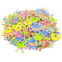 FOAM ADHESIVE SHAPES - MONSTERS 100 PIECE