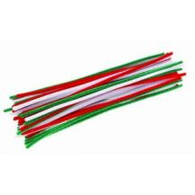 PIPE CLEANERS CHRISTMAS ASSORTED 6mm (100)