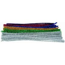 TINSEL STEMS 6MM PK 100 MULTI COLS