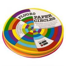 CIRCLES PAPER 180MM (PKT 100) FLUORO