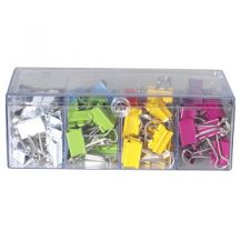 CLIPS FOLDBACK COLOURED (96)