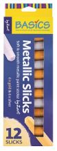 BASIC METALLIC PAINT STICKS 12,S