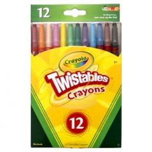CRAYONS PROPELLING ASST 12'S
