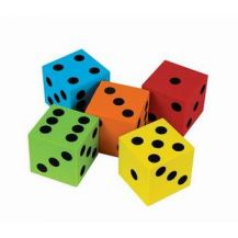 DICE - FOAM - 40MM  SET OF 5