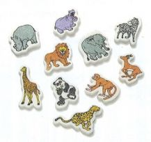 ERASERS - WILD ANIMALS PACK OF 20