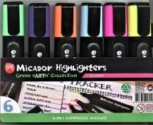 HIGHLIGHTERS MICADOR FLURO ASSORTED  6