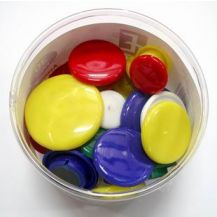 MAGNET BUTTONS ASSORTED TUB OF 30