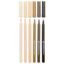 SKIN TONE MARKERS SET OF 6