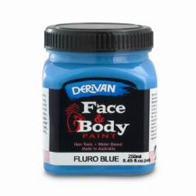 FACE PAINT 250ML FLURO BLUE