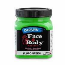 FACE PAINT 250ML FLURO GREEN