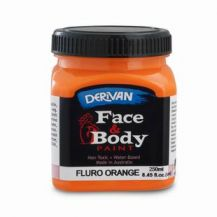 FACE PAINT 250ML FLURO ORANGE