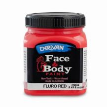 FACE PAINT 250ML FLURO RED