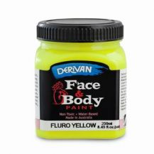FACE PAINT 250ML FLURO YELLOW