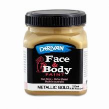 FACE PAINT METALLIC - 250ml GOLD
