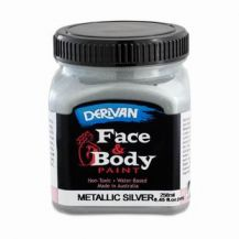FACE PAINT METALLIC-250ml SILVER