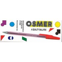 PEN - OSMER BALLPOINT - PKT12 RED