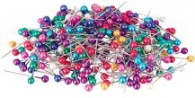 PINS - PEARL PINS COLOURED 25MM PACK 1000
