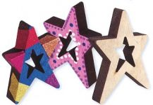 SHAPES - WOODEN STARS 12'S (CN523)
