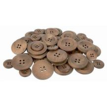 BUTTONS - WOODEN ASSORTED SIZES 50,S (SM020)