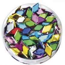 SEQUINS IN A JAR - ASSORTED DIAMONDS- 50G