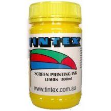 SCREEN PRINTING INK 300ML LEMON