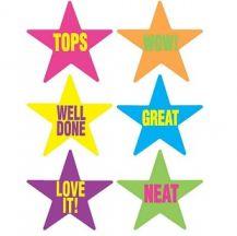 MERIT STICKERS - CAPTION STARS