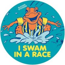 "MERIT STICKERS - ""I SWAM IN A RACE"