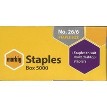 STAPLES 26/6 MARBIG (5000)