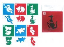STENCIL JUMBO - AUSSIE ANIMAL 1 -6