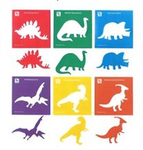 STENCIL JUMBO - DINOSAUR SET OF 6