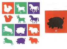 STENCIL JUMBO - FARM - SET OF 6