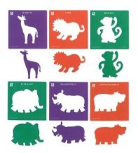 STENCIL JUMBO - JUNGLE - SET OF 6