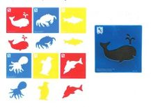 STENCIL JUMBO - SEALIFE - SET OF 6
